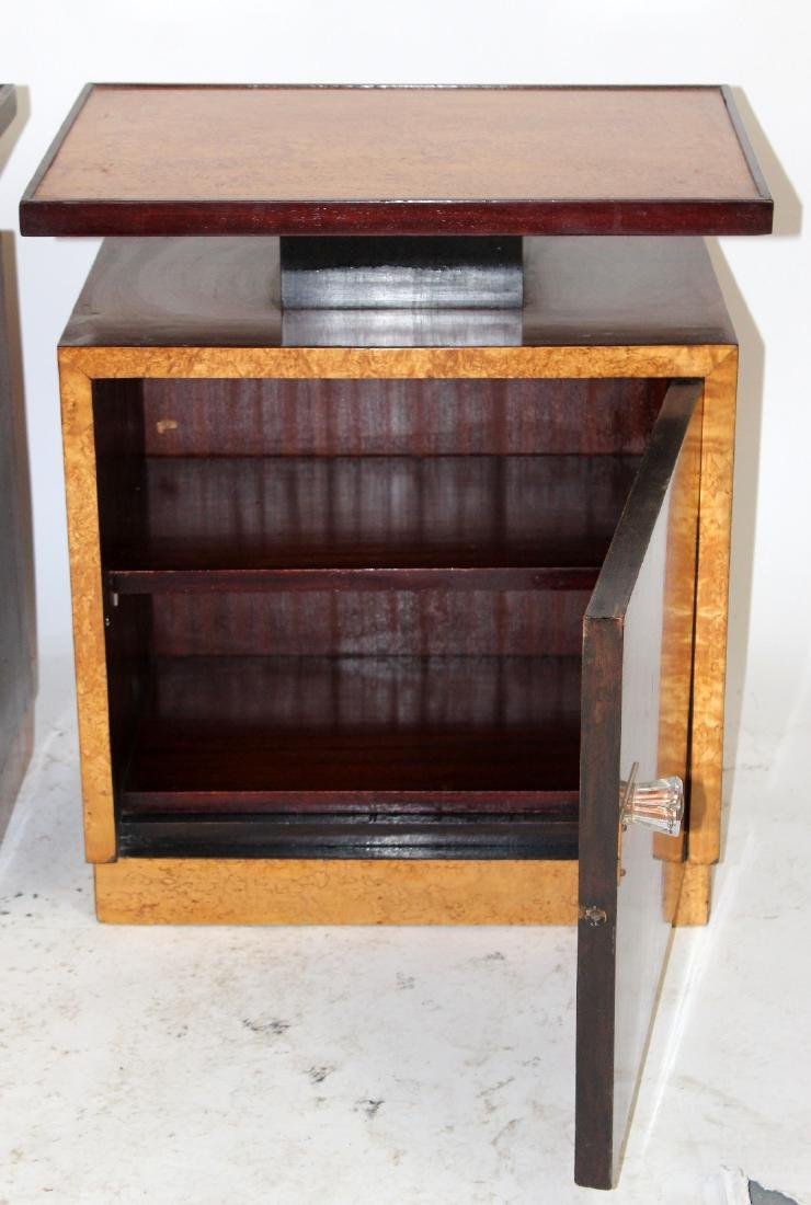 Pair of Art Deco end tables - 3