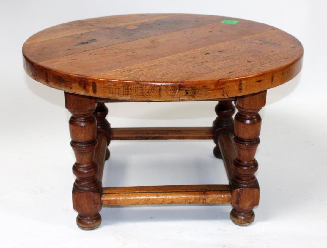 French rustic round coffee table
