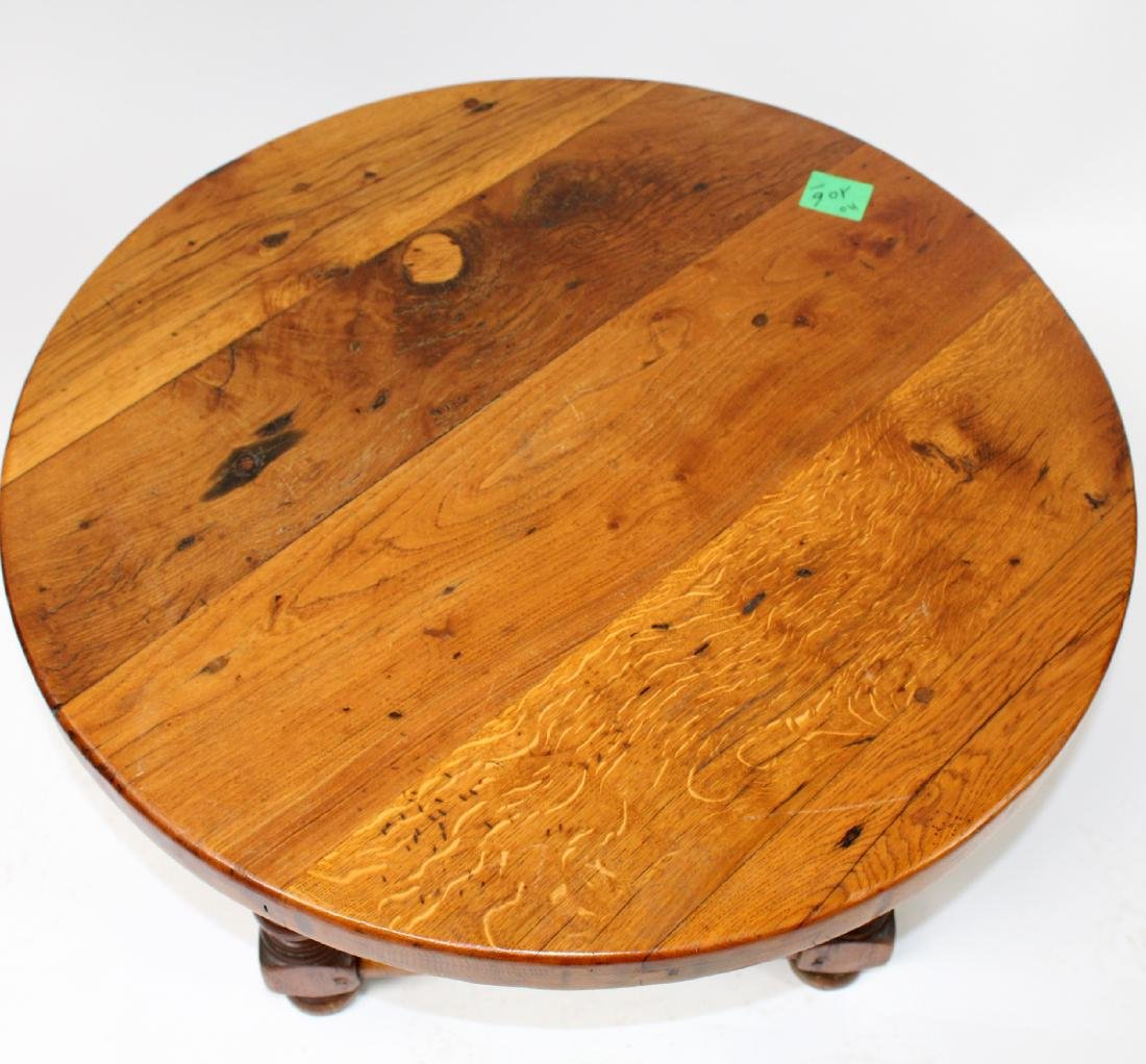 French rustic round coffee table - 3