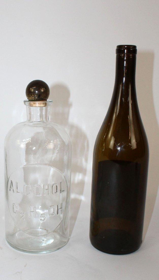 Vintage TCW Co pharmacy bottle marked Alcohol - 2