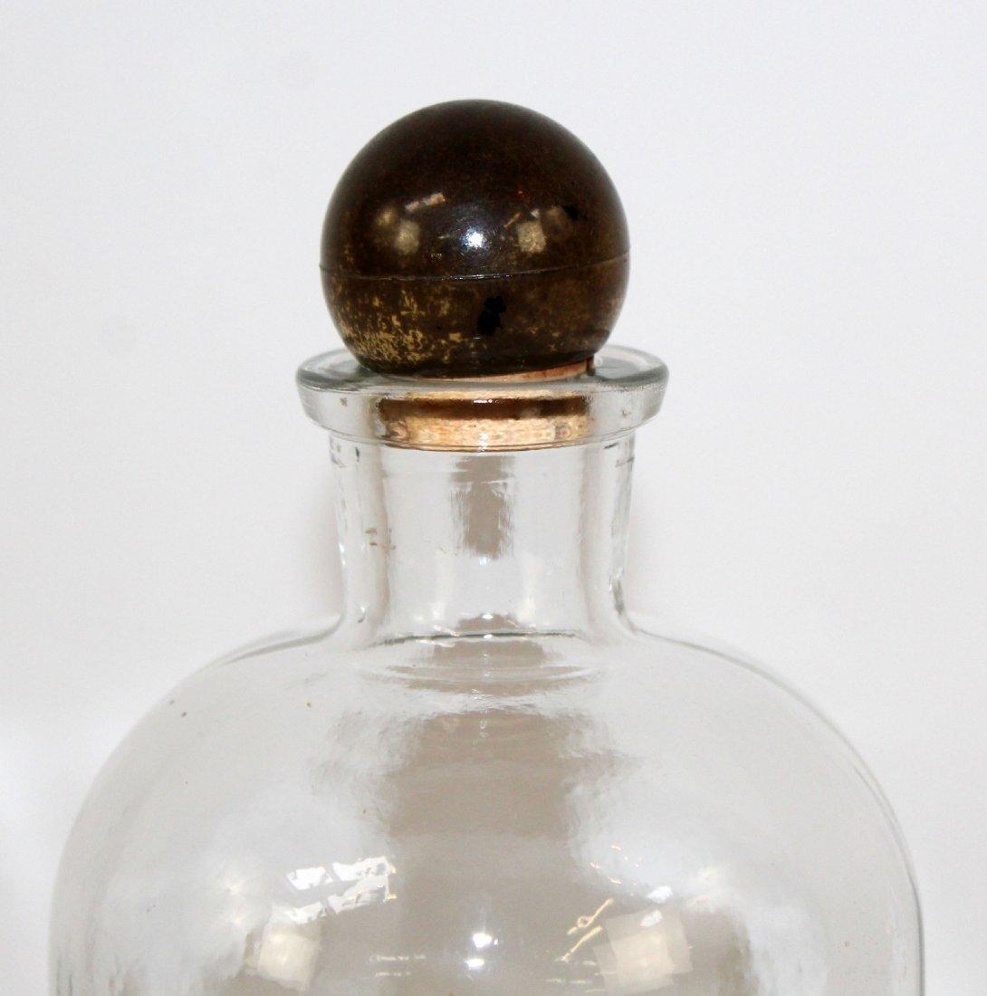 Vintage TCW Co pharmacy bottle marked Alcohol - 3