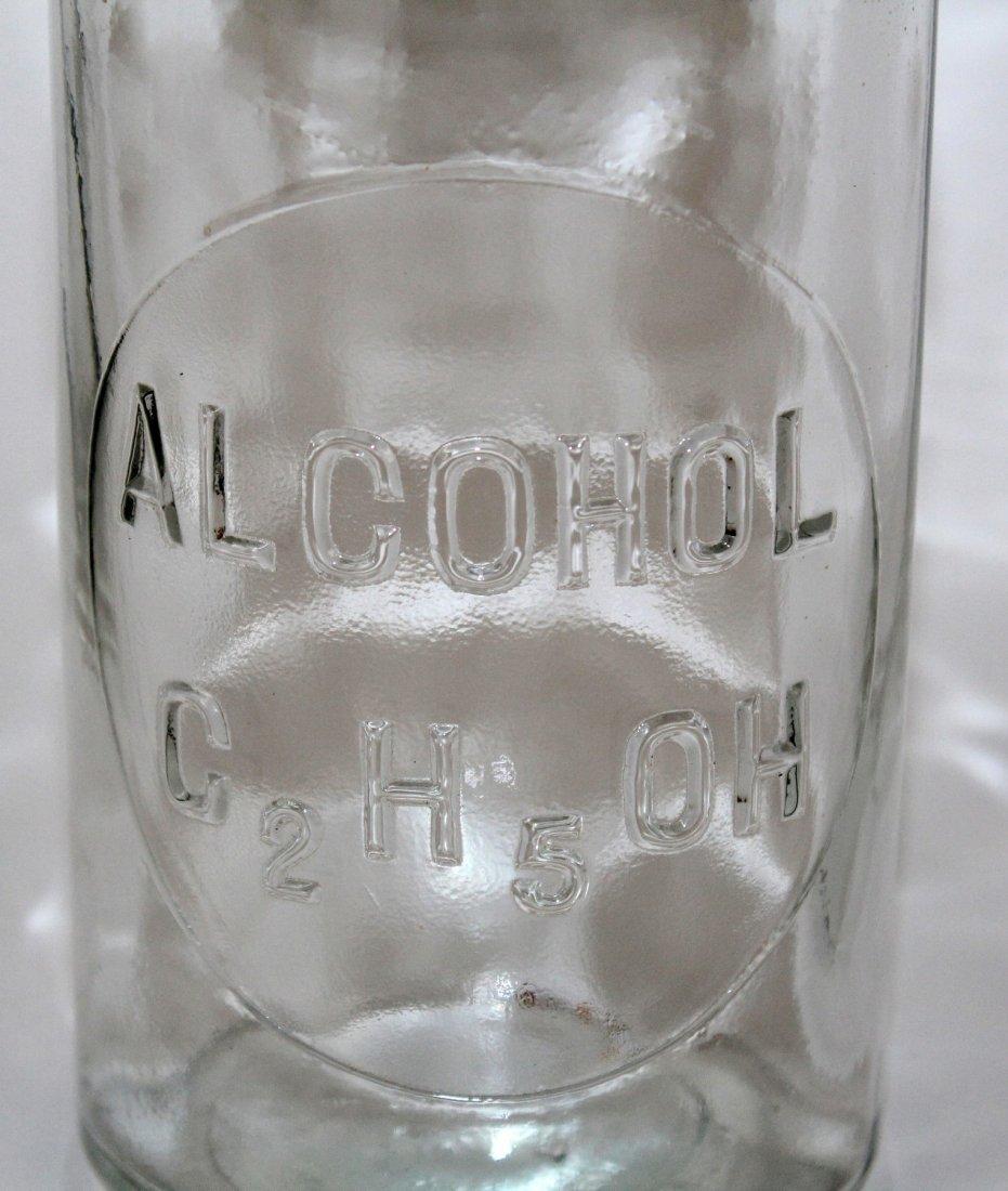 Vintage TCW Co pharmacy bottle marked Alcohol - 4