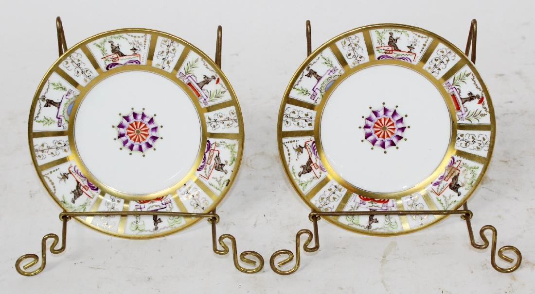 2 French porcelain plates for Tiffany & Co