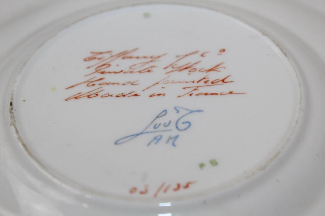 2 French porcelain plates for Tiffany & Co - 2