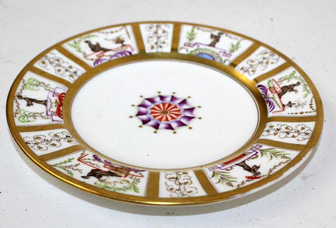 2 French porcelain plates for Tiffany & Co - 4