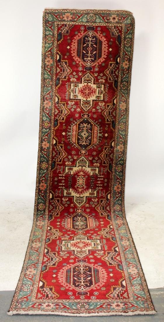 "3'4""x 12'10"" Persian wool runner"