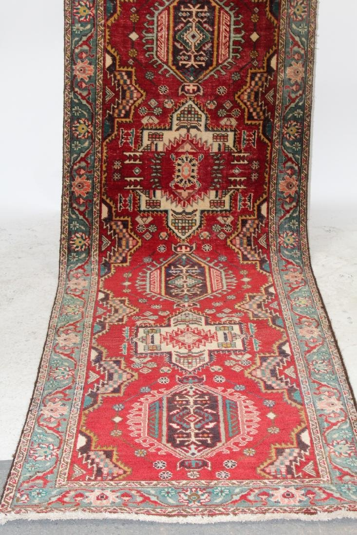 "3'4""x 12'10"" Persian wool runner - 4"