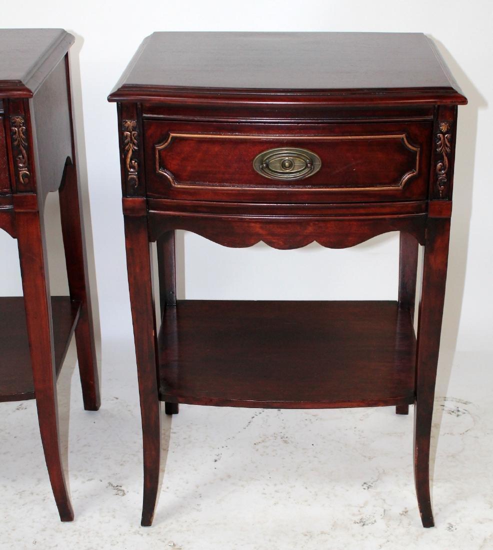 Pair American mahogany end tables - 5