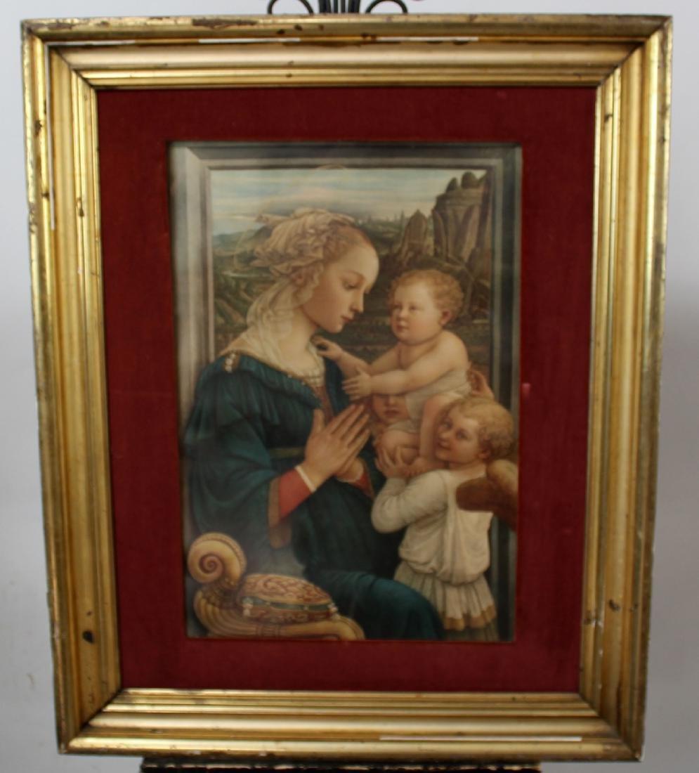 Madonna & Child antique print after Filippo Lippi
