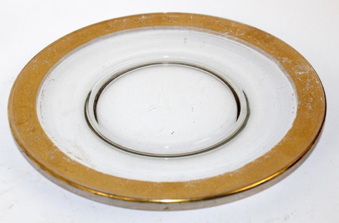 Lot of 8 gold rimmed dessert plates - 4