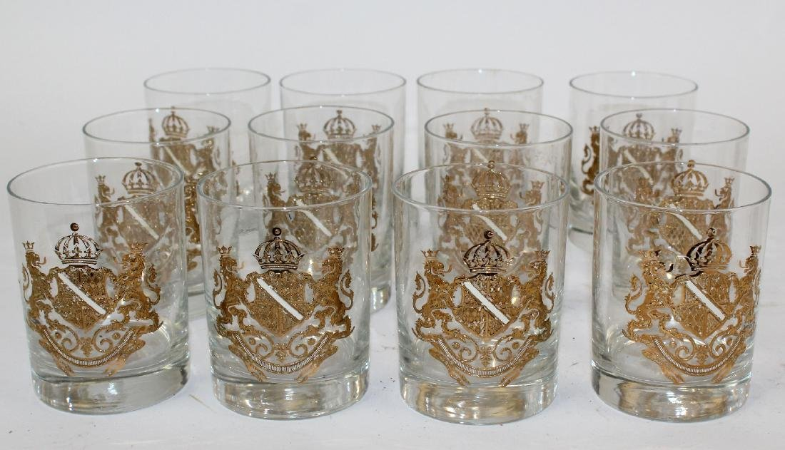 12 Georges Briard rocks glasses with crest