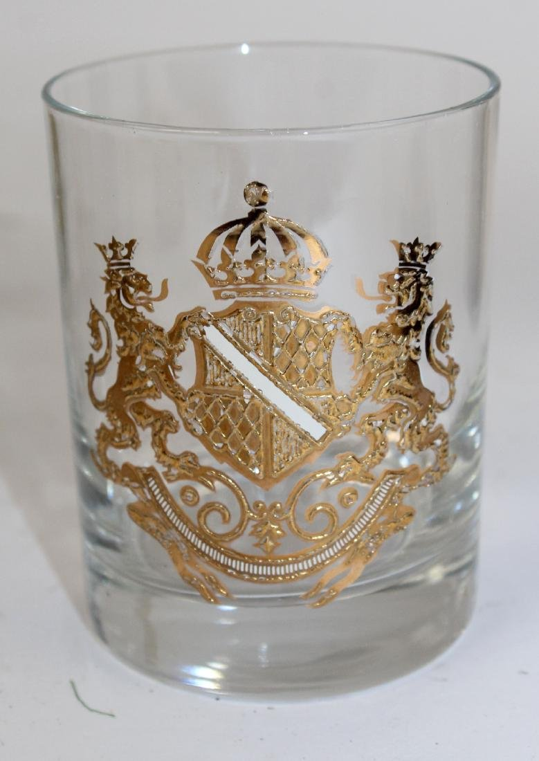 12 Georges Briard rocks glasses with crest - 3