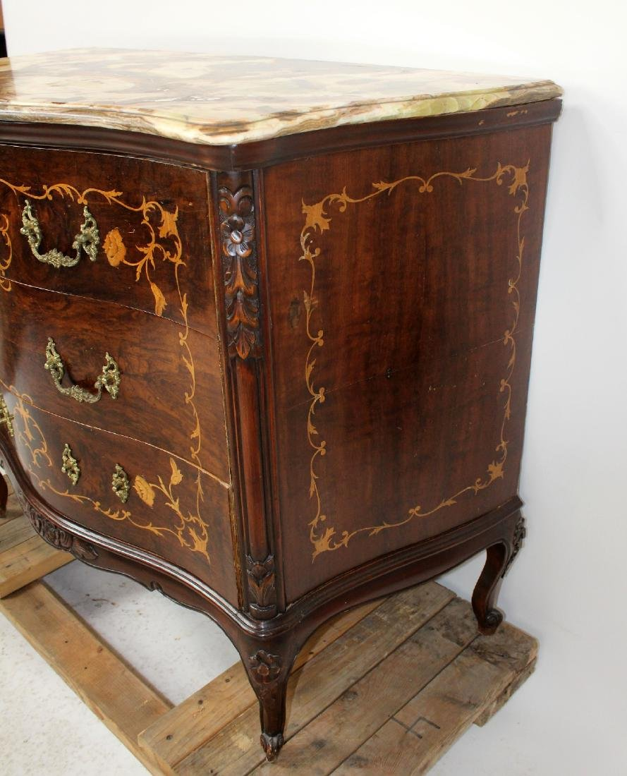 Louis XV style inlaid commode with secretary - 4