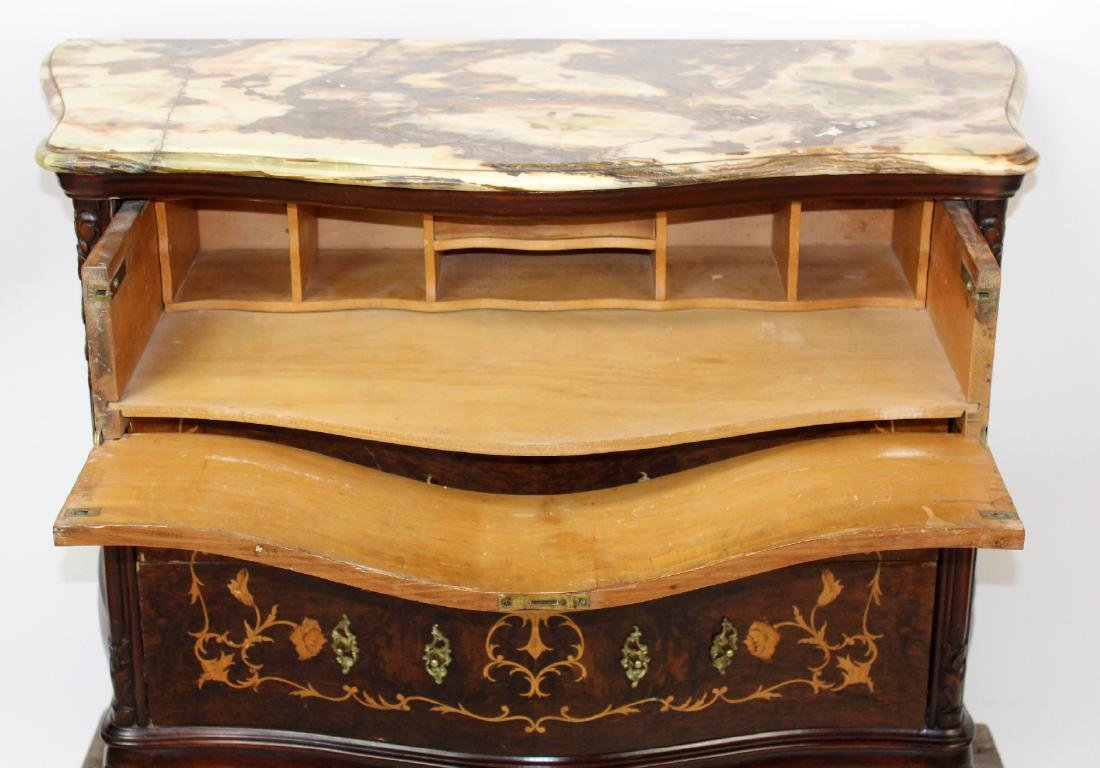 Louis XV style inlaid commode with secretary - 5