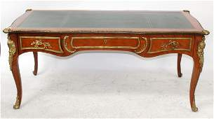 Louis XV style bureau plat desk