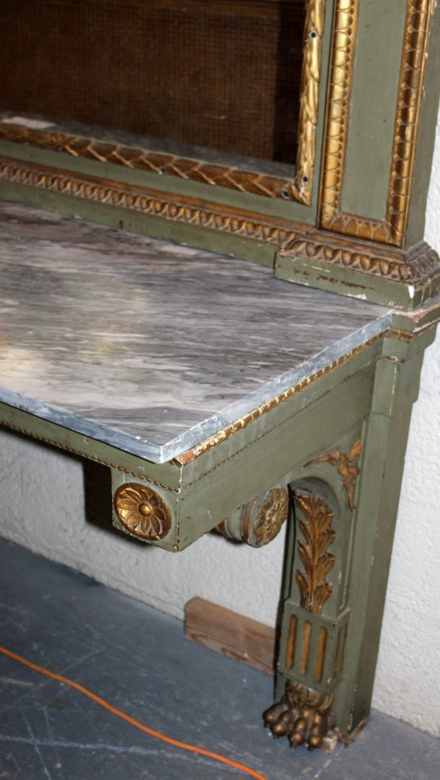French Empire console with marble top - 2