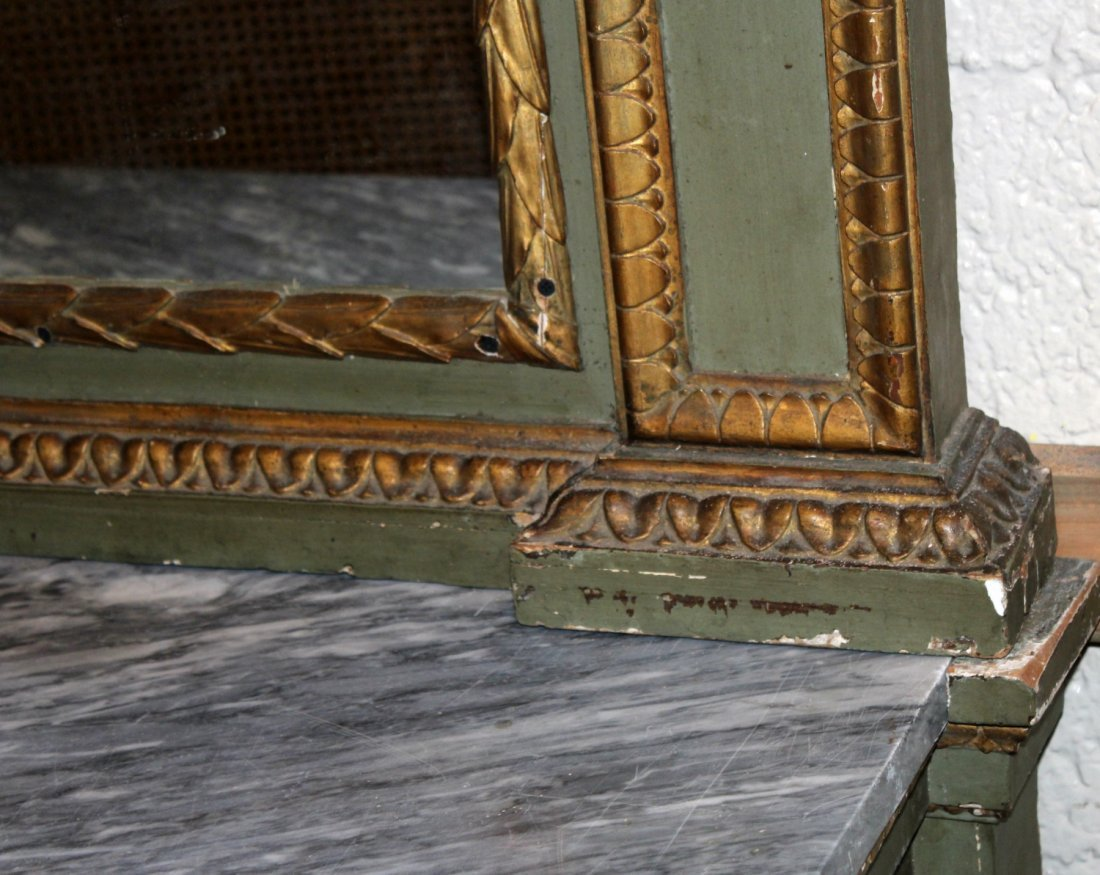 French Empire console with marble top - 7