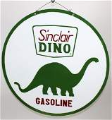Vintage double sided Sinclair Gasoline sign