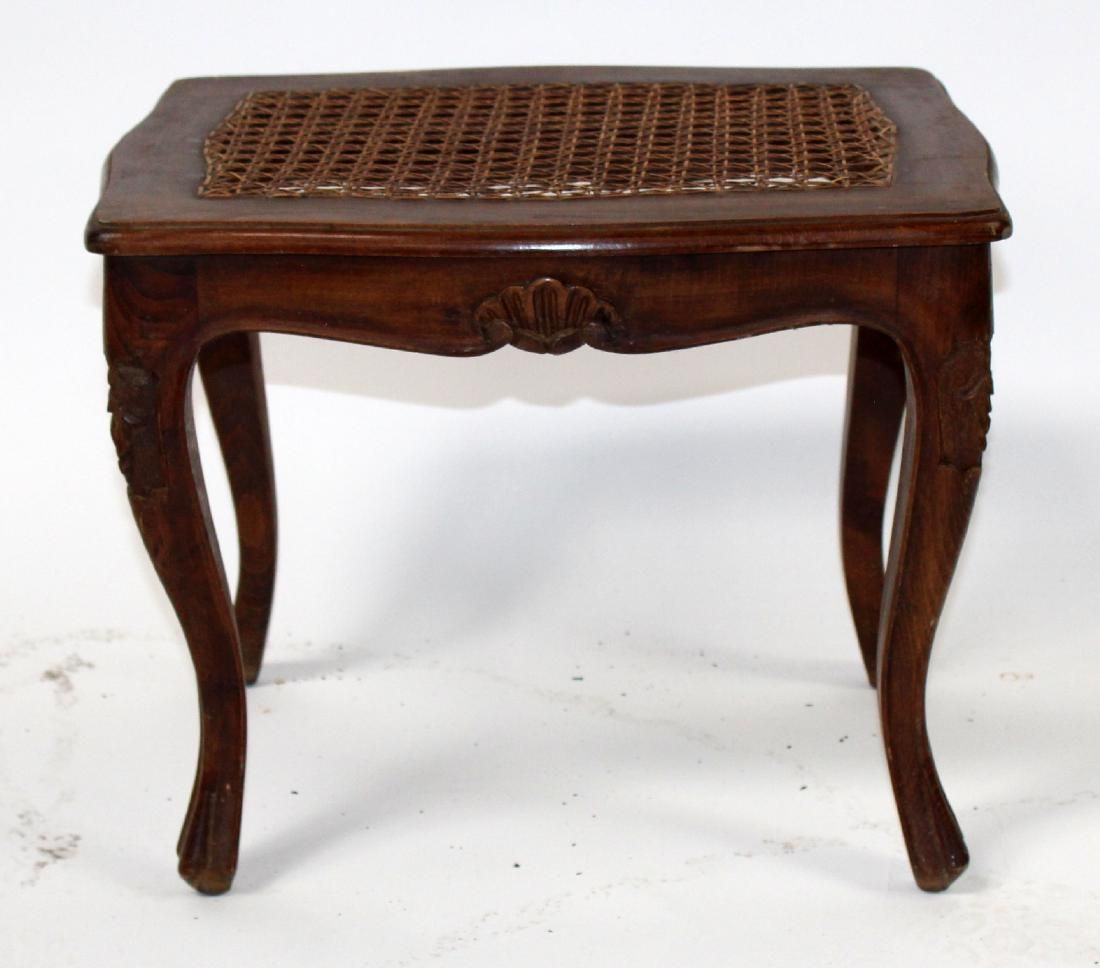 French Louis XV style cane footstool