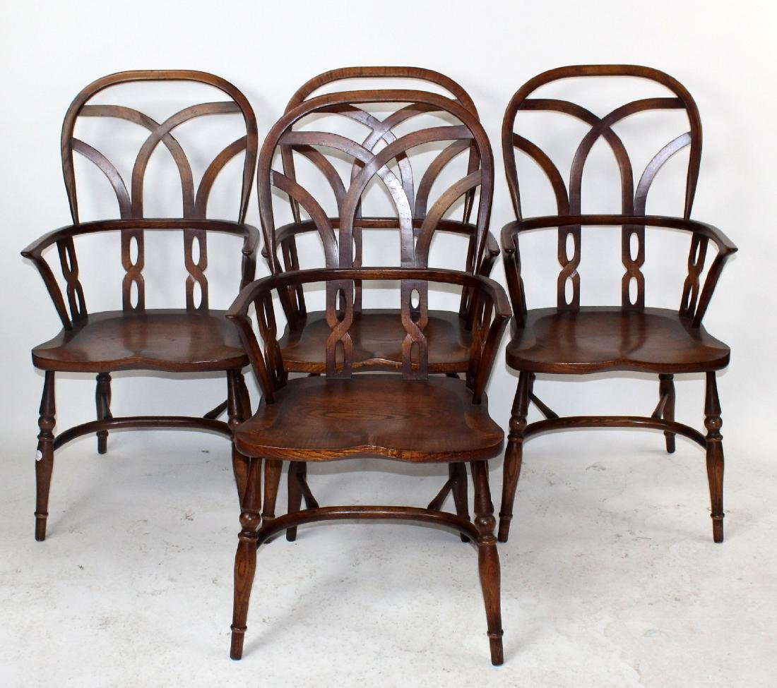 Set of 4 English Windsor armchairs by Fauld