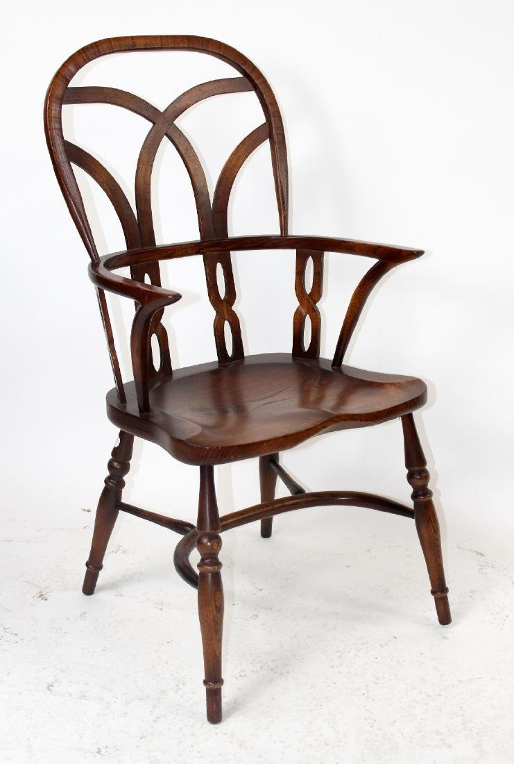 Set of 4 English Windsor armchairs by Fauld - 2