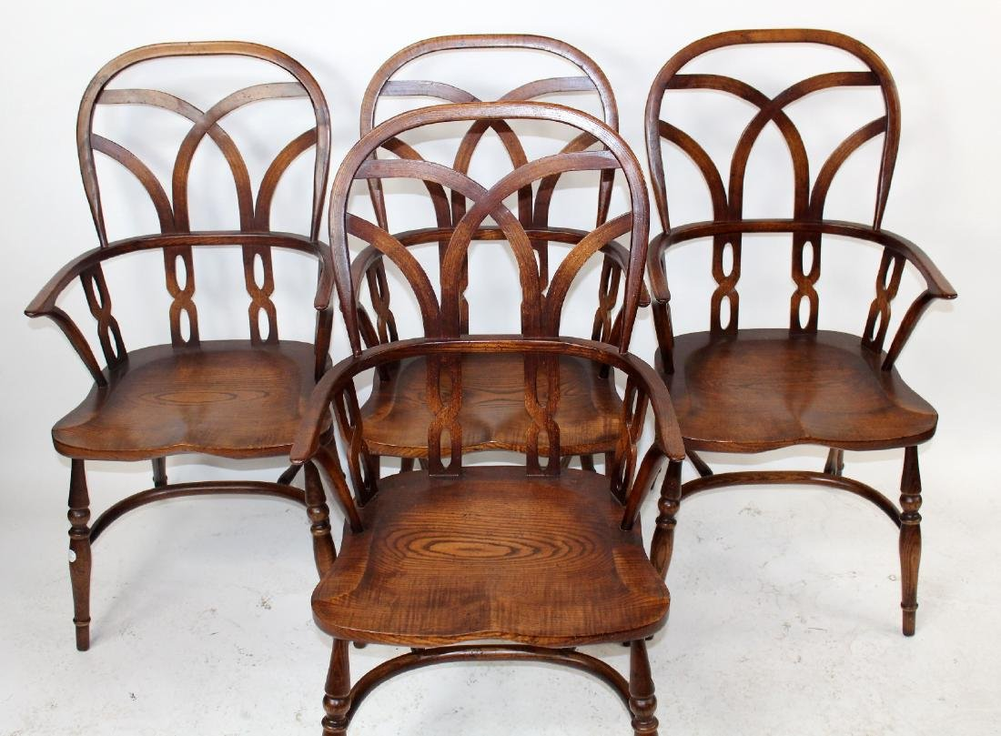 Set of 4 English Windsor armchairs by Fauld - 4
