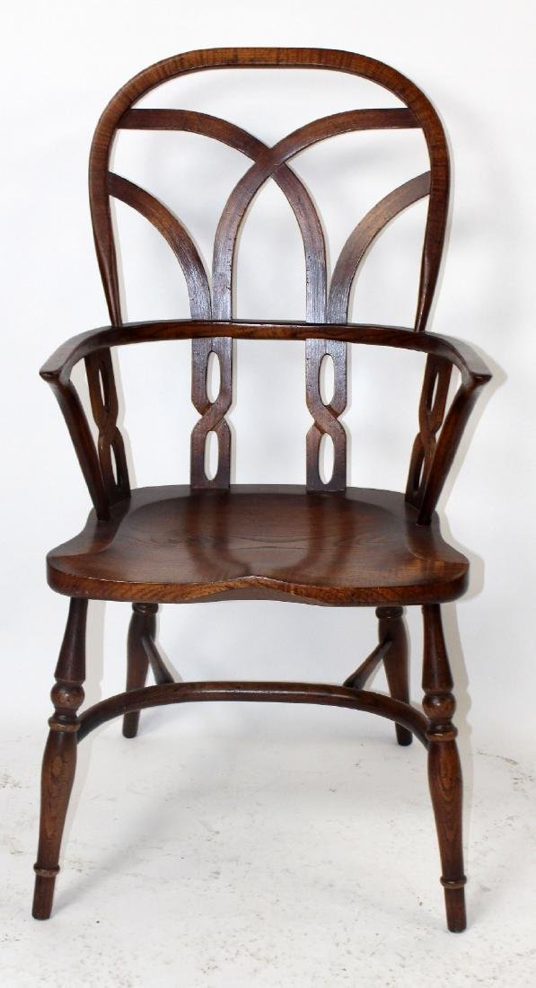 Set of 4 English Windsor armchairs by Fauld - 6