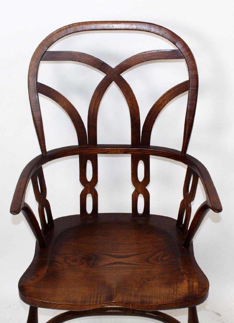Set of 4 English Windsor armchairs by Fauld - 7