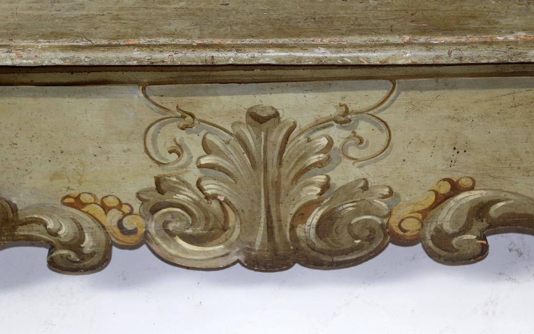 Italian Baroque polychrome Cassapanca bench - 3