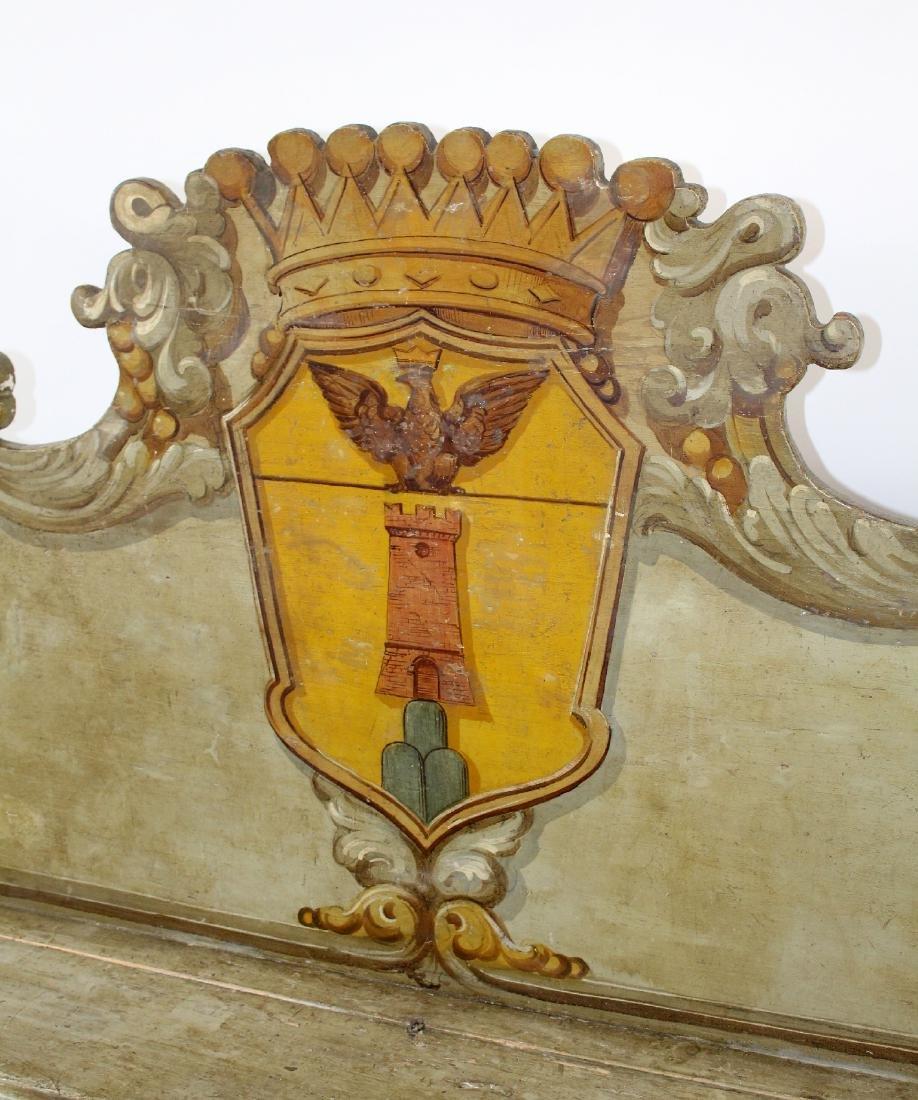 Italian Baroque polychrome Cassapanca bench - 4