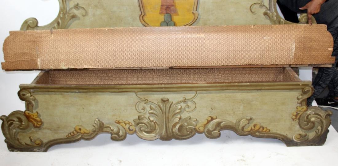 Italian Baroque polychrome Cassapanca bench - 5