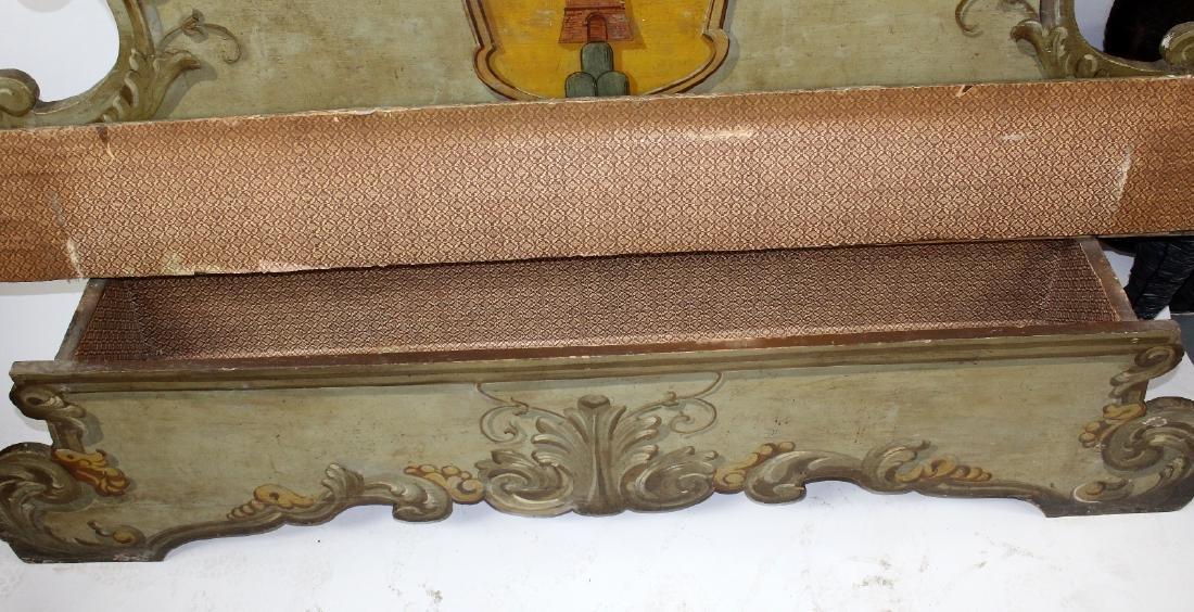 Italian Baroque polychrome Cassapanca bench - 6