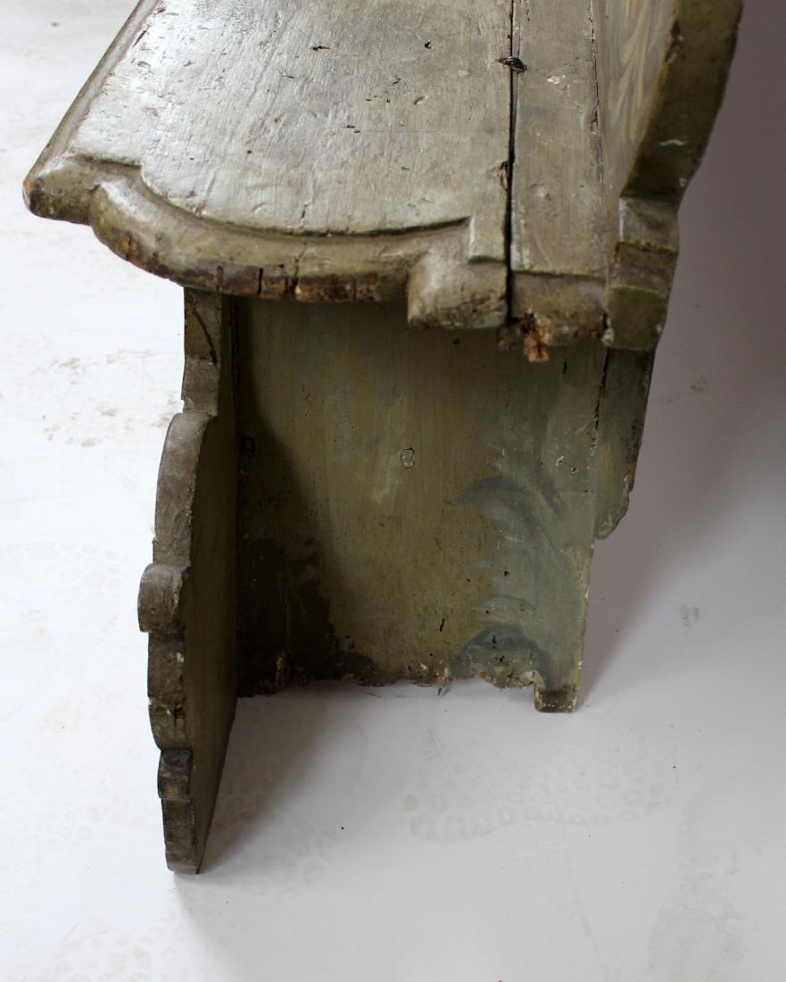 Italian Baroque polychrome Cassapanca bench - 8