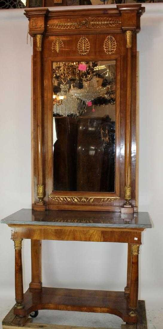 French Empire console with pier mirror - 2