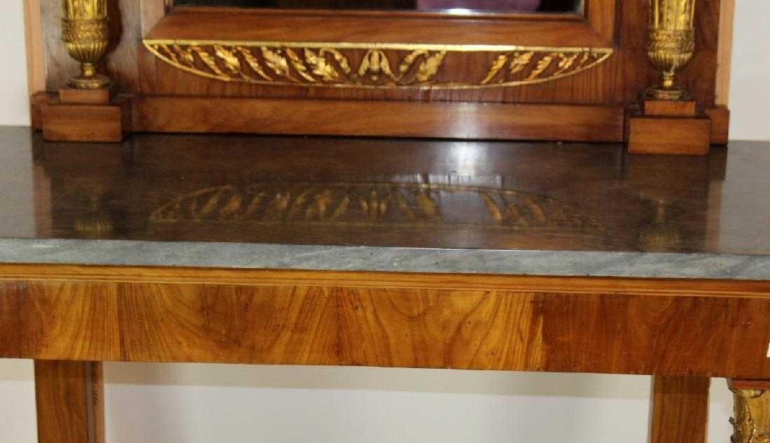 French Empire console with pier mirror - 6