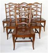 Set of 6 Drexel Heritage ladder back chairs