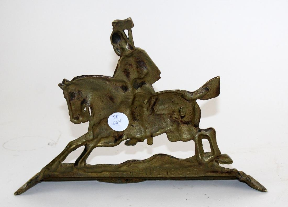 Pair of brass book ends with British Soldiers - 2