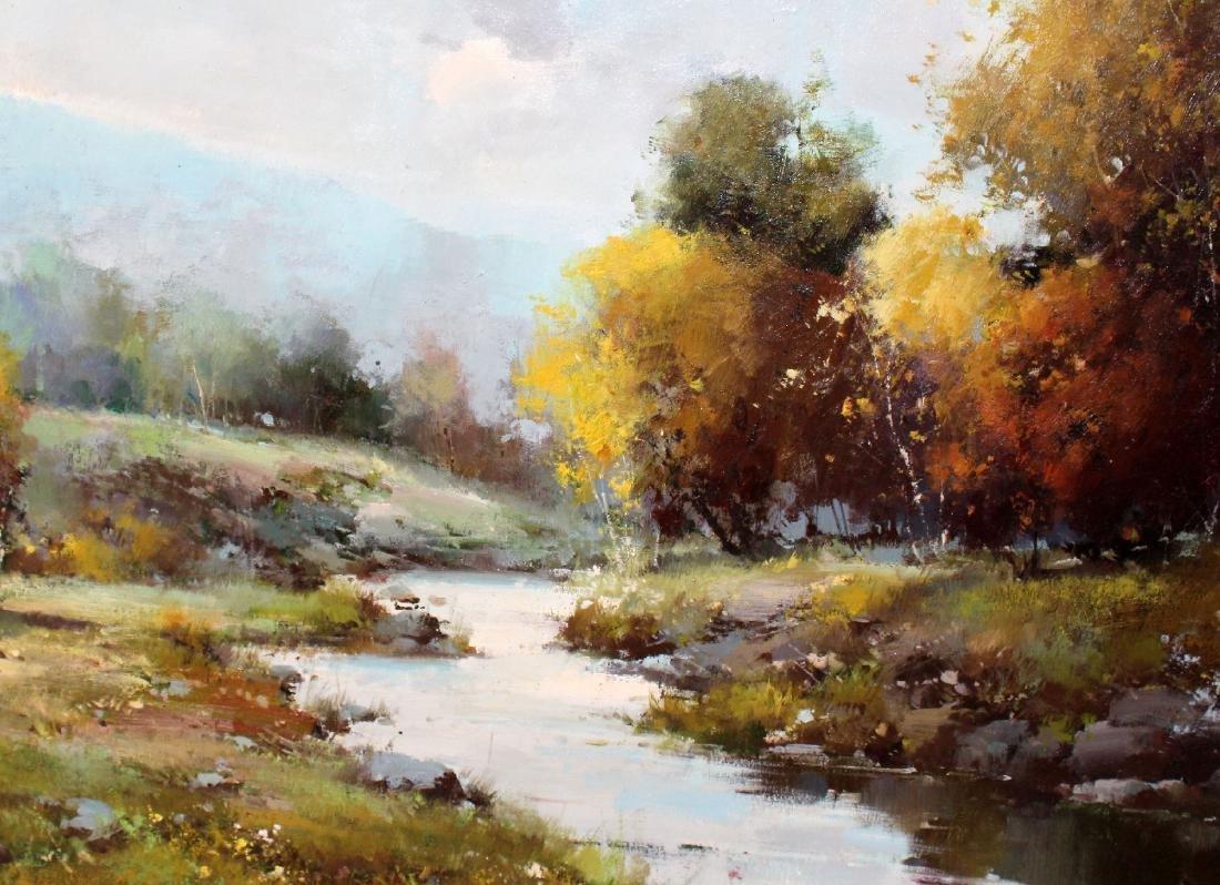 Grand scale oil on canvas landscape - 3