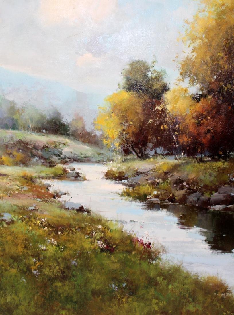 Grand scale oil on canvas landscape - 5