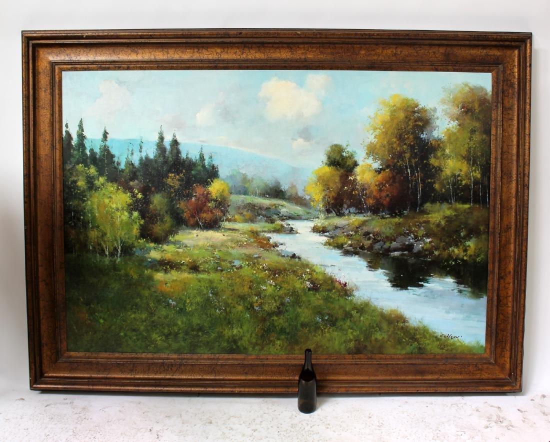 Grand scale oil on canvas landscape - 6