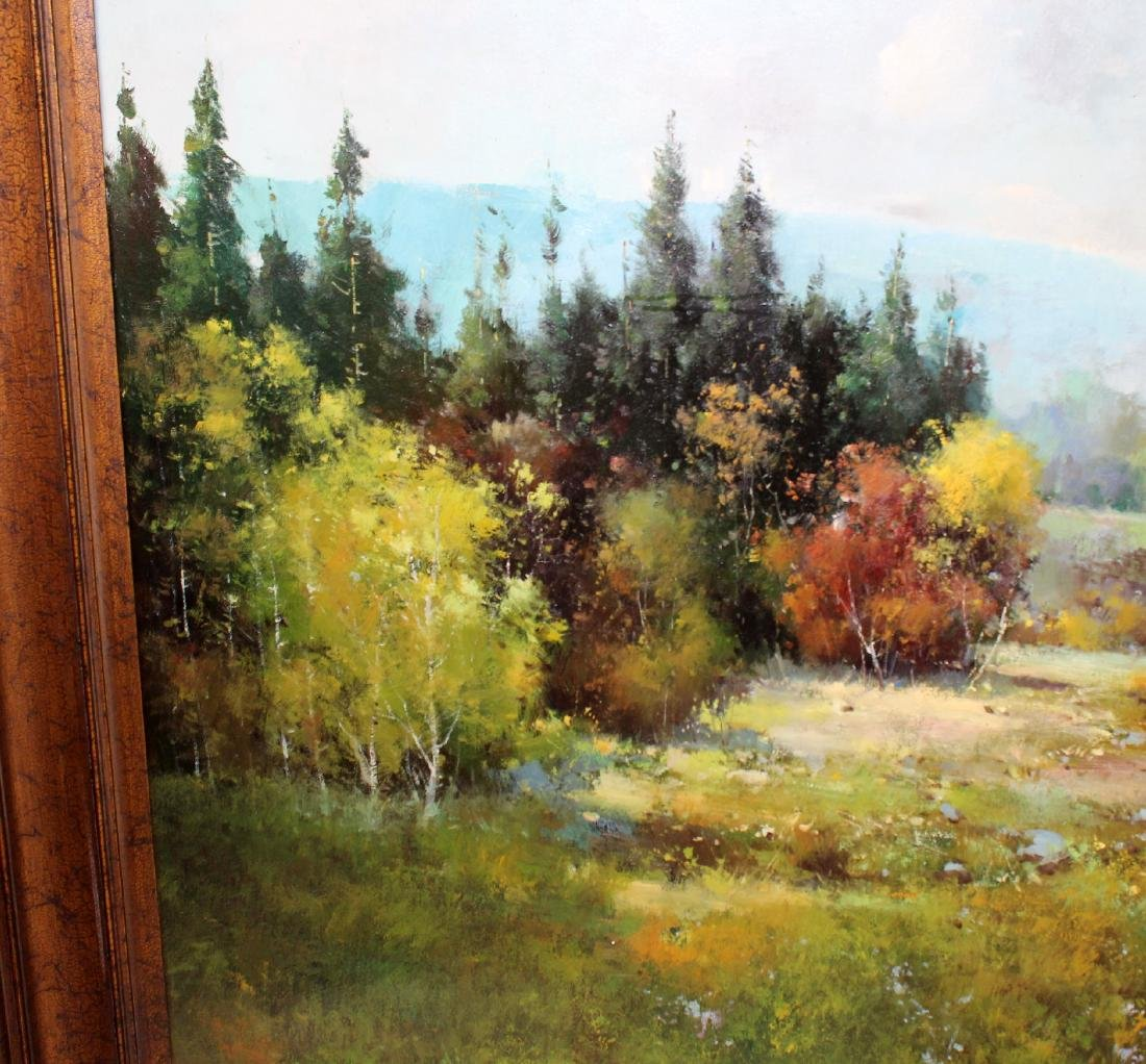 Grand scale oil on canvas landscape - 7
