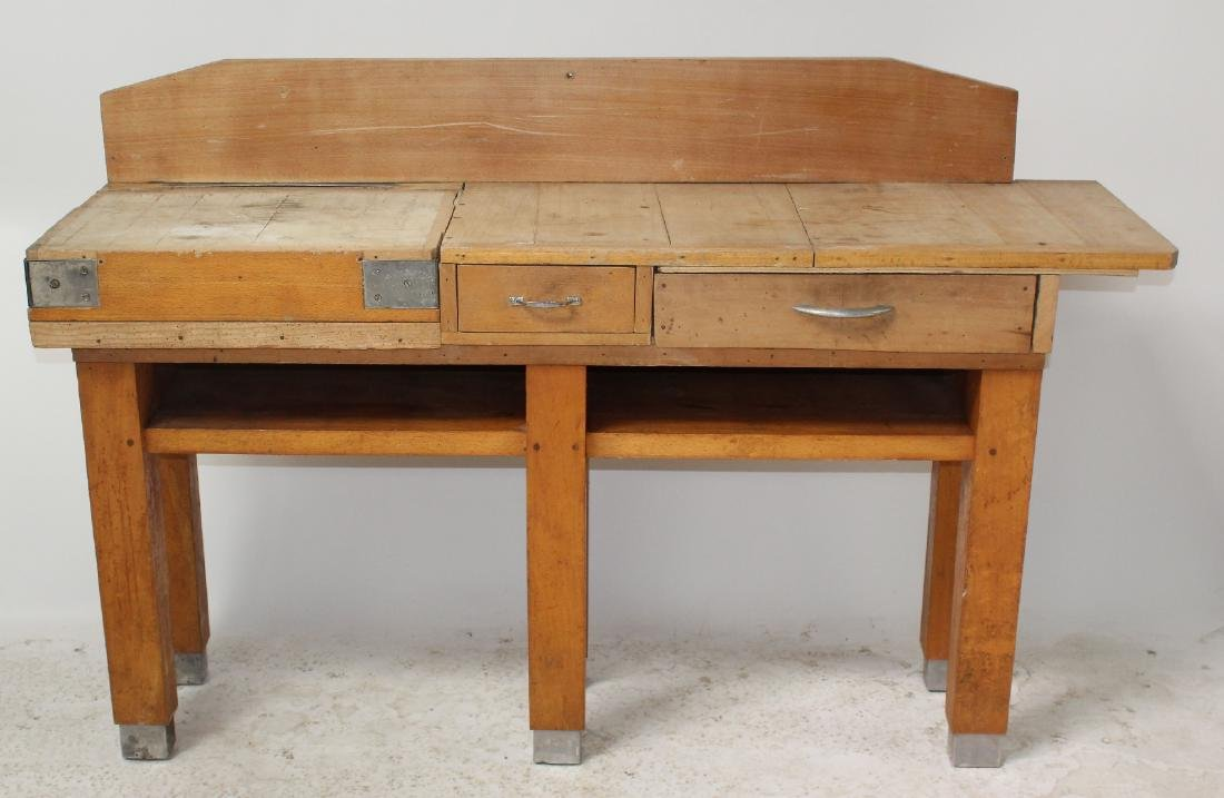 French butcher block table