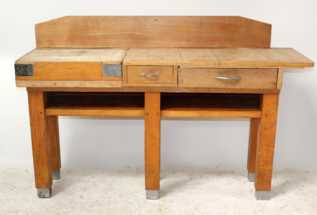 French butcher block table - 5