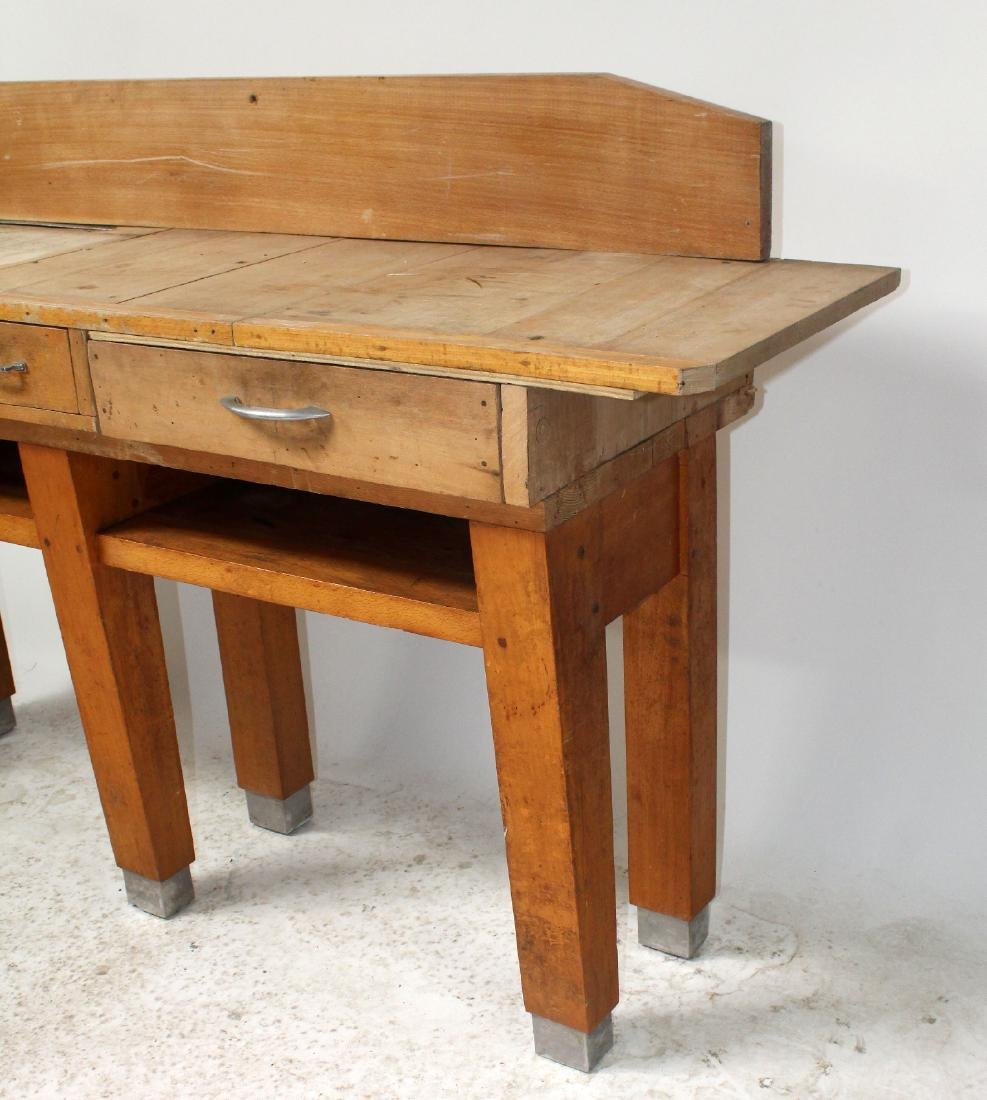 French butcher block table - 6