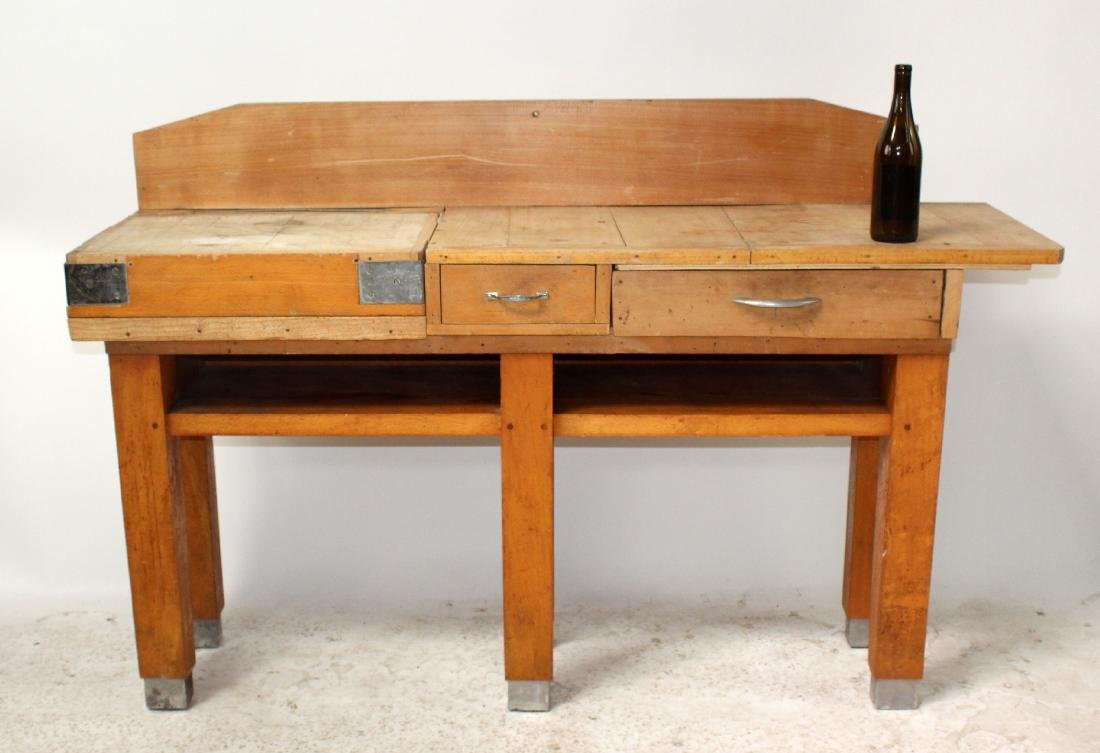 French butcher block table - 7