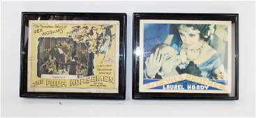 Lot of 2 antique movie theater lobby cards