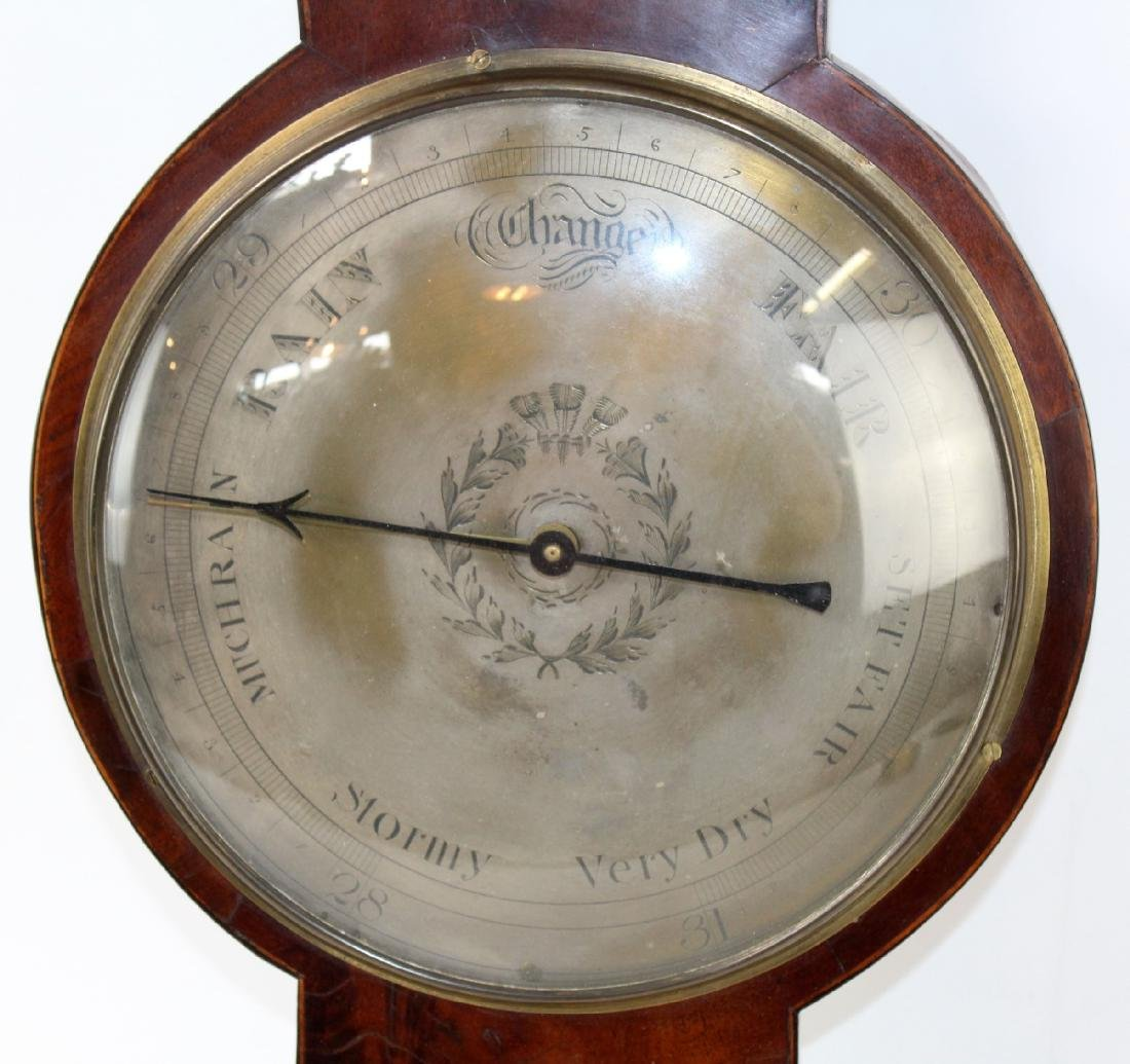 English wheel or banjo barometer - 4
