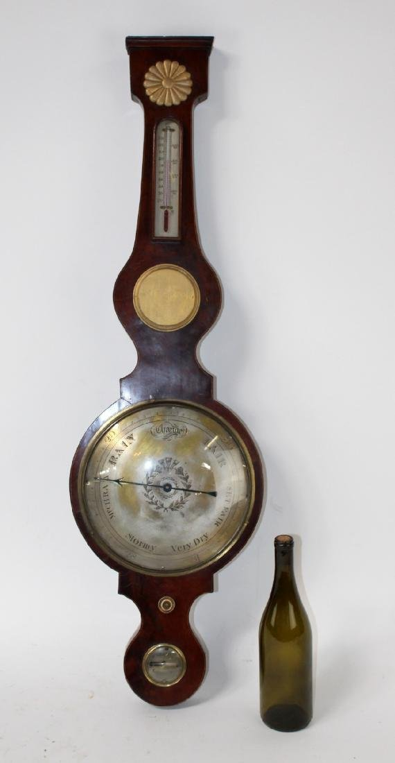 English wheel or banjo barometer - 6