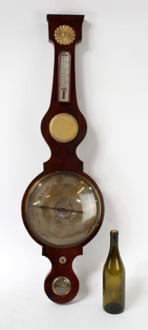 English wheel or banjo barometer - 7