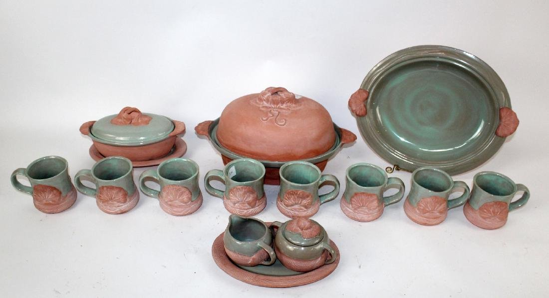 American glazed terra cotta pottery